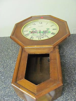 Vtg 8968 Old Pawn Daneher Chime Mantle Clock For Parts