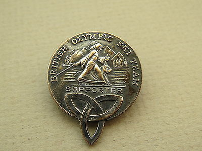 Winter Olympics   British Olympic Ski Team Supporter   Vintage Badge