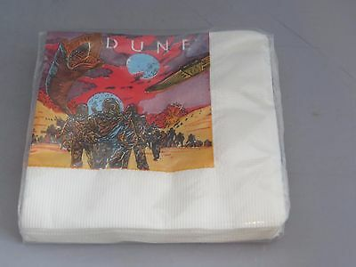 Vintage DUNE 1984 Movie Small paper napkins - 16 - Birthday Party Supplies NOS