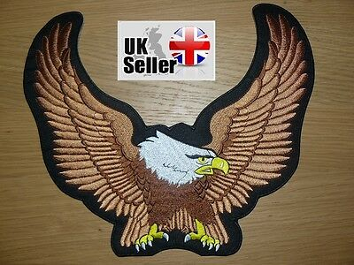 Eagle Wings Large Iron on/ Sew on Patch Biker Motorcycle