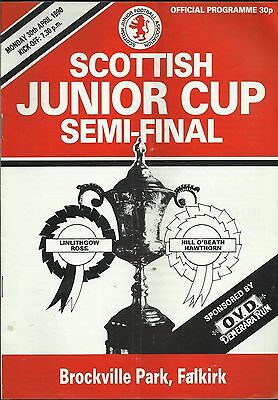 "Scottish Junior Cup semi final - Linlithgow Rose v. Hill o' Beath 1990  "" rare """
