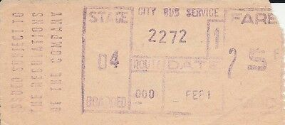 T.I.M. Bus Ticket. City Bus Service, Kennealy, Waterford. 1 ticket.