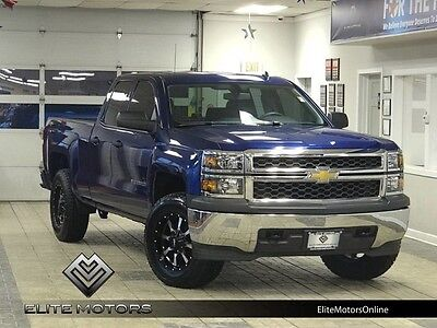 2014 Chevrolet Silverado 1500  14 chevrolet silverado 1500 4wd custom wheels leveled trailer hitch