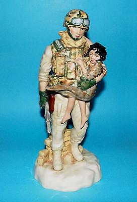 Peggy Davies ornament figurine 'In the arms of a Hero' army 1st  LTD ED BOXED