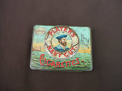 Scarce Old Embossed Player's Navy Cut Hand Made Cigarettes Tin circa 1910
