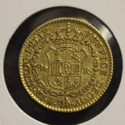 Spain 80 Reales Gold 1811 KM 552 very nice gold coin