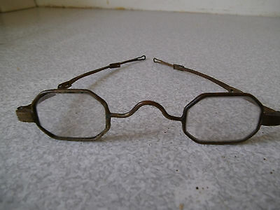 Pair Of Antique 19Th C - 1800S- Steel Rimmed Spectacles- Extending    -2