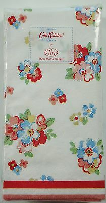 1 x Pack of 10 Cath Kidston Classic Spring Flowers White Pocket Tissues
