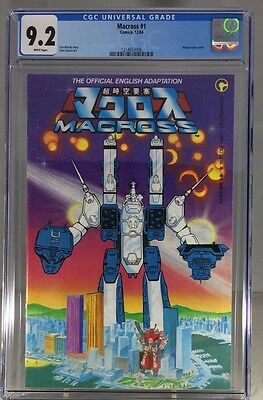 Macross #1 CGC 9.2 NM- White Pages, Comico 1st Robotech in comics, Free Shipping