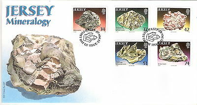 Jersey 2007 Mineralogy Set Of 6 On First Day Cover