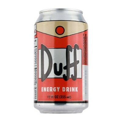 The Simpsons Duff Beer Energy Drink 6 Pack 12 oz Cans, NEW UNOPENED ATTACHED
