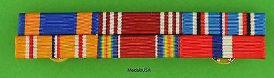 WWII Army Air Corps Philippines Asia Pacific Service Mounted 6 Ribbon Bar - WW2