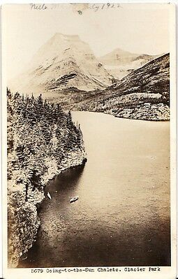 Going to the Sun Chalets Glacier Park Montana - Real Photo RPPC - 1922 Good