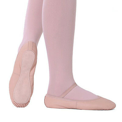 New Ballet Slippers Full Sole Leather So Danca NO DRAWSTRING SD55 Ballet Pink