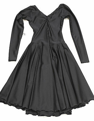 New Ice  Dance Dress Mondor Lycra  Black Long  12-14 CXL