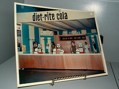 "Diet-rite Cola Advertising Photo 8""X10"" Canada CNE Booth Fair 3-hole punched"