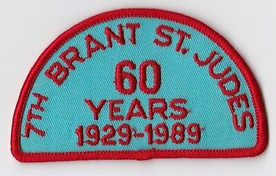 7th Brant St. Judes Brantford Ontario Scout Cub 60 Years patch - VG