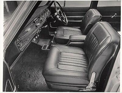 Ford Corsair 2000E Front Interior, Period Photograph.