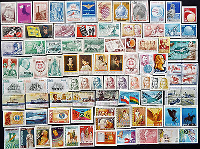 Chile Mint Stamps From 1972 To 1977