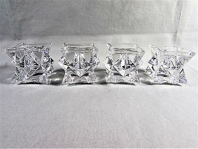 Avon Crystal Candle Holders Star Set of 4