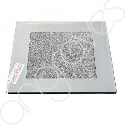 Diamond Crushed Silver Mirror Candle Plate / Placemat Dinner Plate Glass Mat