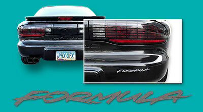 95-97 Firebird Formula Headlight & Rear Bumper Decals Charcoal Gray