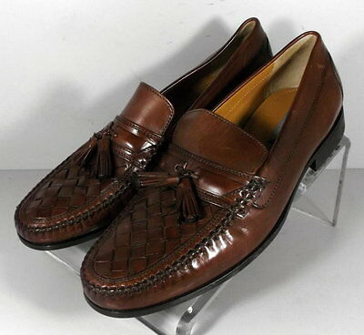 5900354 SP50 Men's Shoes Size 9 M Brown Leather Slip On Johnston & Murphy
