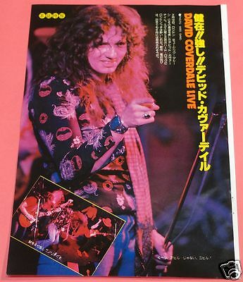 David Coverdale 1978 Clipping Japan Magazine Os 6A