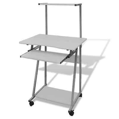 White Office Computer Desk Table Keyboard Tray Shelf Mobile Student Study Home