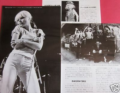 Deborah Harry Blondie 1977 Clipping Japan Magazine Rs 8A 5Page