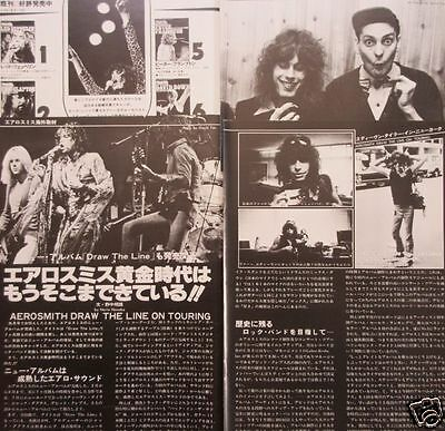 Aerosmith Steven Tyler Cheap Trick 1977 Clipping Japan Magazine Rs 11A 5Page