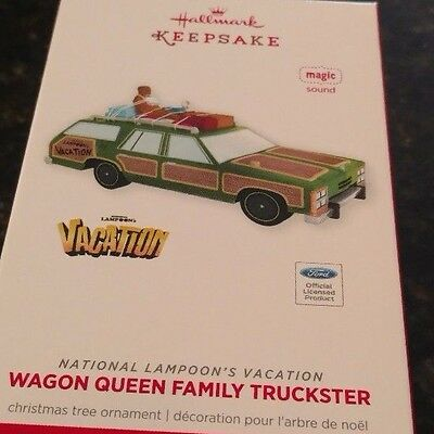 2013 Hallmark lampoons Christmas Vacation Wagon Queen Family Truckster Ornament