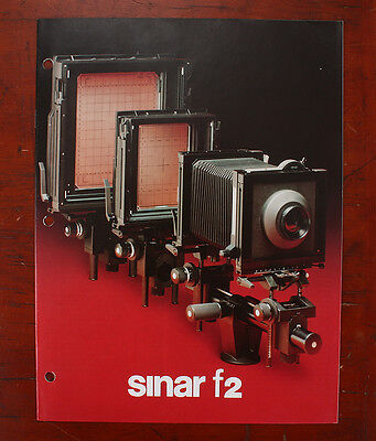 Sinar F2 Sales Brochure, 8 Pages, 1986, Drilled For Notebook/186992