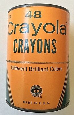 Antique Crayola crayons round cannister -  from the 60's - #480