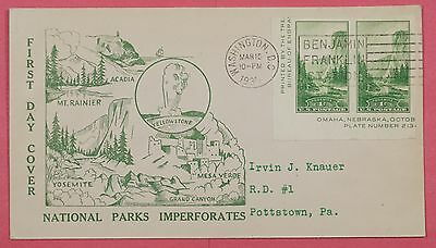 1935 #769A Yosemite National Park 1C Fdc Hubbard Cachet Cover