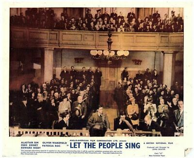 Let The People Sing Original 1942 British Front Of House Lobby Card Court Scene
