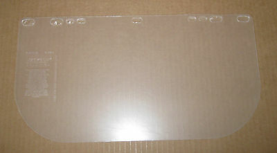 "34 Jackson Safety Model 8154 Clear Polycarbonate Face Shield Visors 8"" X 15 1/2"""