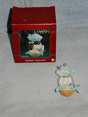 Carlton Cards Heirloom Collection Godchild Christmas Ornament Dated 1998 in Box
