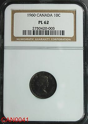 CANADA 10 Cent 1960 NGC PL-62