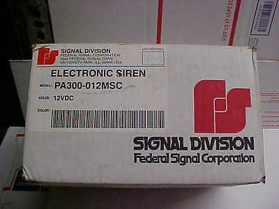 New federal signal division electronic siren 12vdc pa300-012msc USA loc#14c12