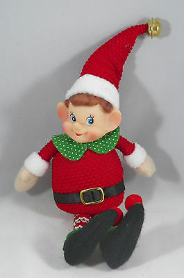 Plush Elf with Jingle Bell Christmas Decoration new holiday