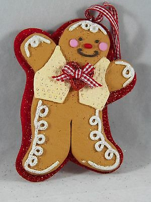 Gingerbread Man in Vest Christmas Tree Ornament new holiday