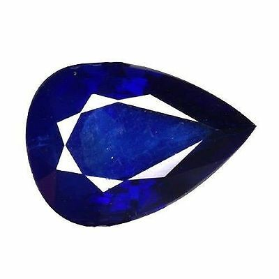 1.105Cts Excellent Top Luster Collections! Blue Natural Sapphire Pear Gemstones