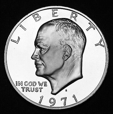 1971 S Eisenhower Silver $1 Dollar Proof US Coin aFDC Coin
