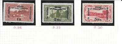 IRAQ 1920 Officials 1R to 5Rs - m/m - SG O.28/30