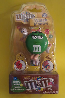 2007 M&m Wrist  Watch Green M&m Lady Canadian Edition Packaging French English