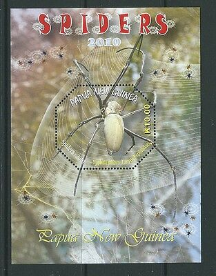 Papua New Guinea 2010 Spiders Miniature Sheet Unmounted Mint,mnh