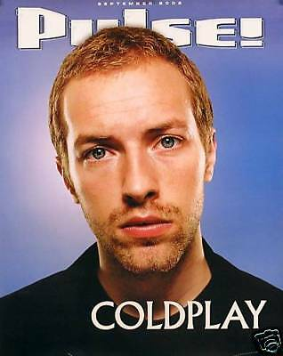 """COLDPLAY 2002 """"PULSE MAGAZINE"""" PROMO POSTER - Chris Martin's Tilted Head"""