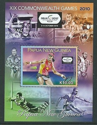 Papua New Guinea 2010 Comonwealth Games Miniature Sheet  Unmounted Mint,mnh