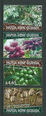 Papua New Guinea 2010 Coffee Set Of 4  Unmounted Mint,mnh